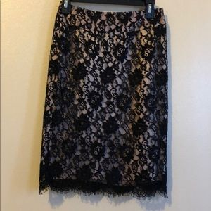 Lace Scalloped skirt Banana Republic